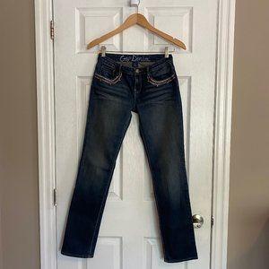 Gap Kids Brown Embroidery Dark Wash Skinny Jeans